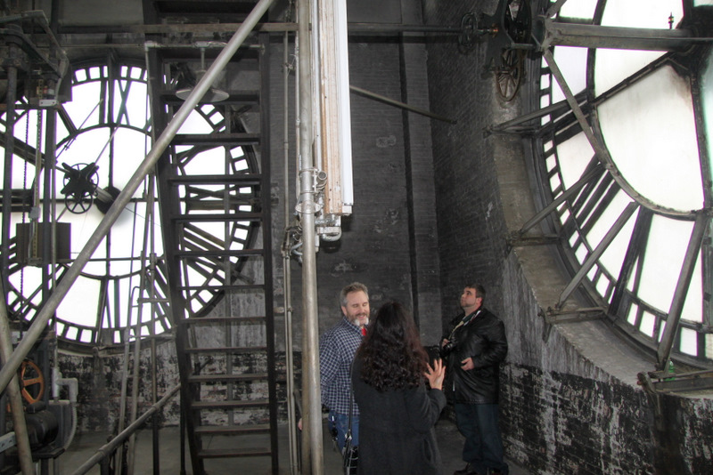 Inside the Bromo Seltzer Tower on one one of their
