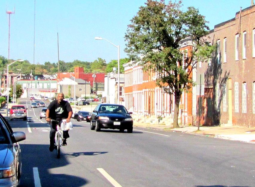 Monroe Street bicyclist. (Fern Shen)