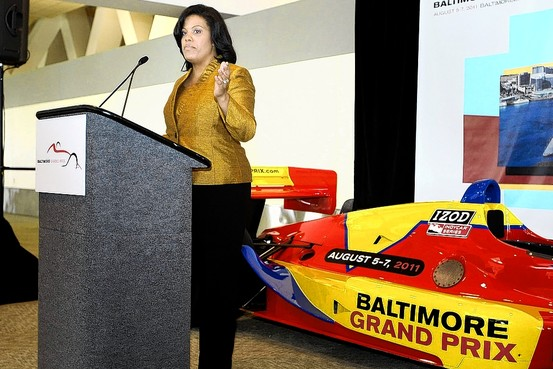 Mayor Rawlings-Blake announces the Grand Prix event in 2010.