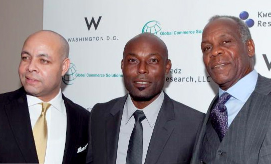 Harry Black with actors Jimmy Jean Louis and Danny Glover at 2010