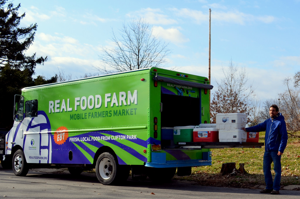 A farmer's market on wheels, Real Food Farm's delivery truck. (Photo by Francine Halvorsen)