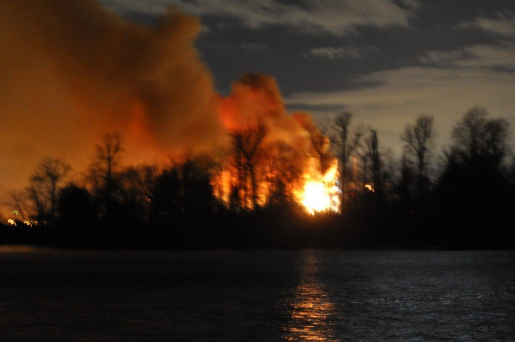 Another picture of last night fire sent to The Brew.
