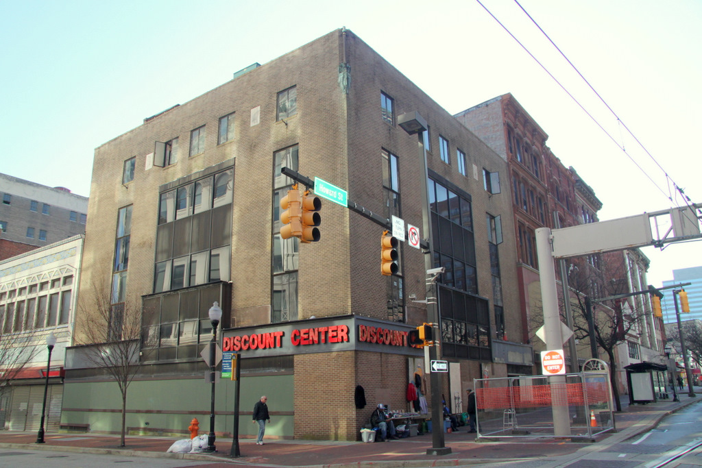 The former Read's drugstore building, January 2012. (Photo by Fern Shen)