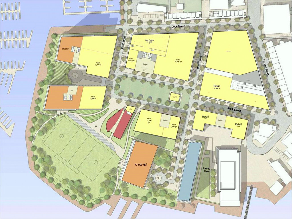 Harbor Point layout, including lacrosse field. (Developer drawing)