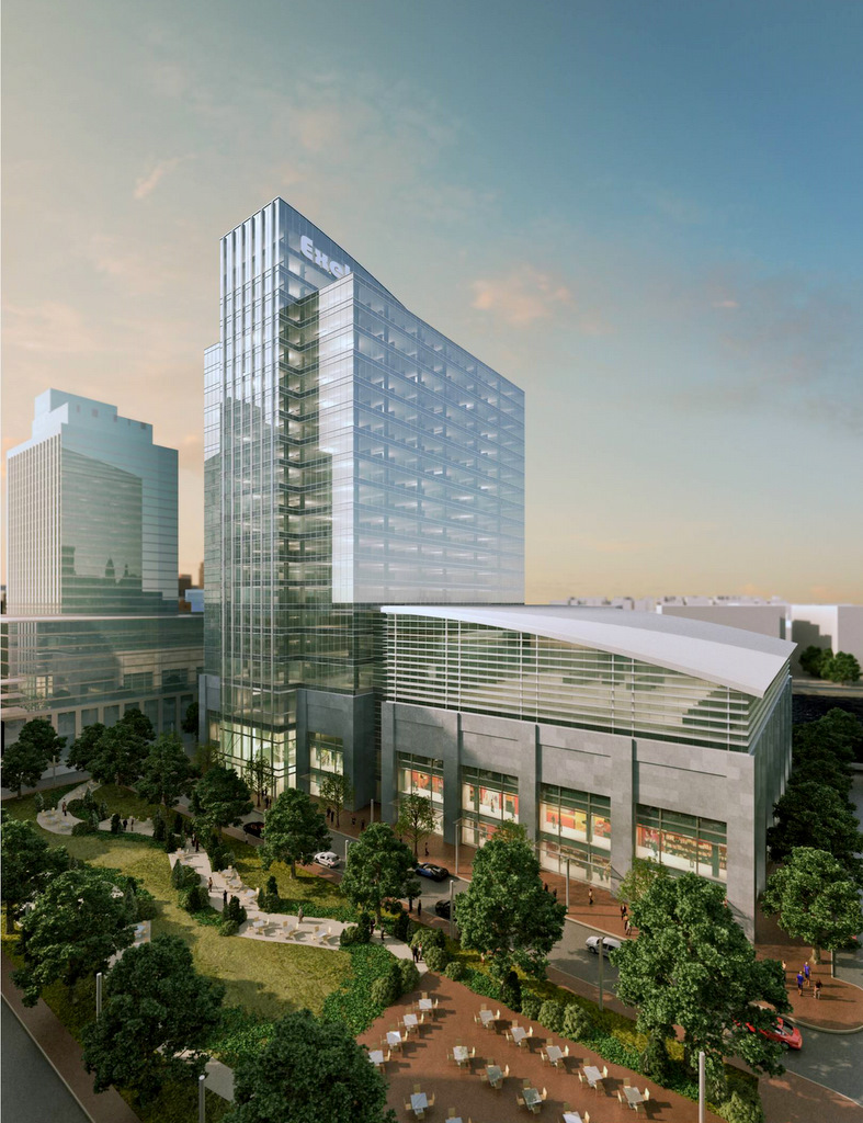 Artist's rendering of how the Exelon building atHarbor Point might look. (Credit: Harbor East Development)
