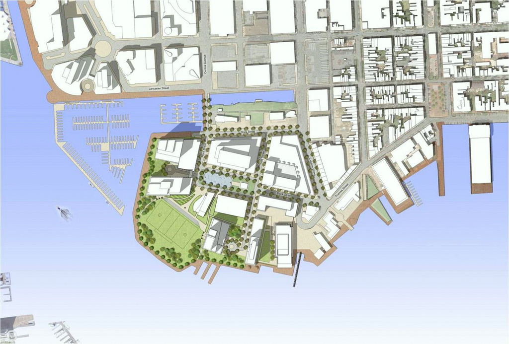 Harbor Point layout. (Harbor East Development Group)