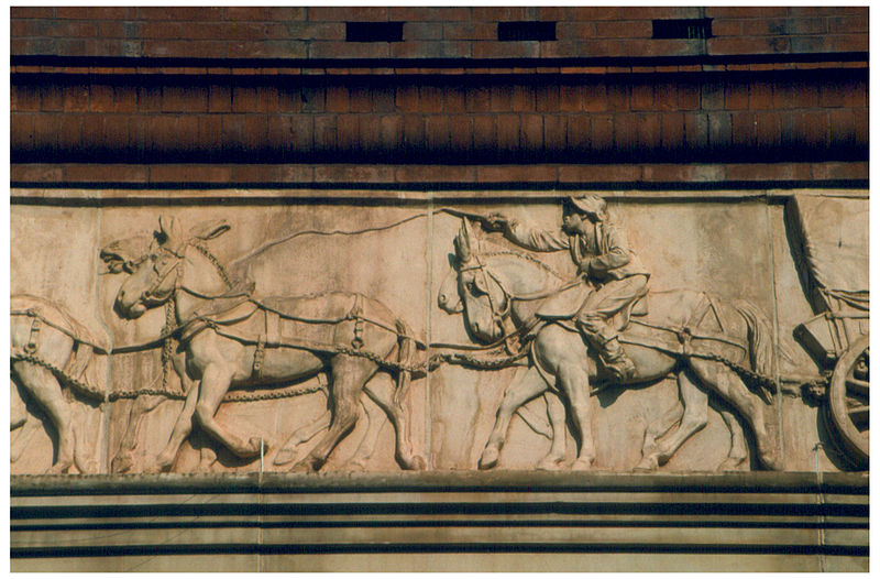 A black teamster is depicted in the Civil War frieze in Washington. The frieze was sculpted by Caspar Buberi in 1887. (Photo by Einar Einarsson Kvaran)