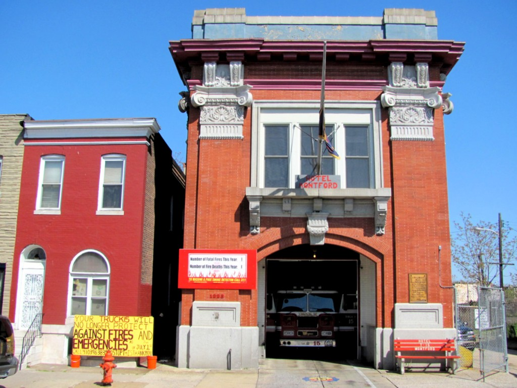 The Montford Avenue firehouse in East Baltimore, nicknamed