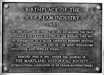 Ice Cream Plaque at Hillen and Exeter Streets, from the BGE Collection at the Baltimore Museum of Industry