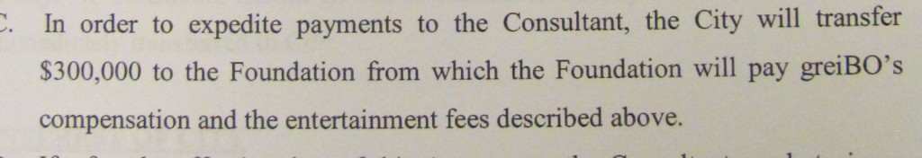 The greiBO consulting fees will be channeled through the Baltimore City Foundation, according to the contract before the BOE today.