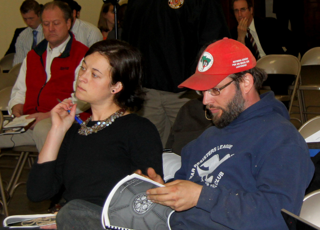 Activists Casey McKeel and Mike McGuire at Baltimore Taxpayer Night 2012. (Photo by Fern Shen)