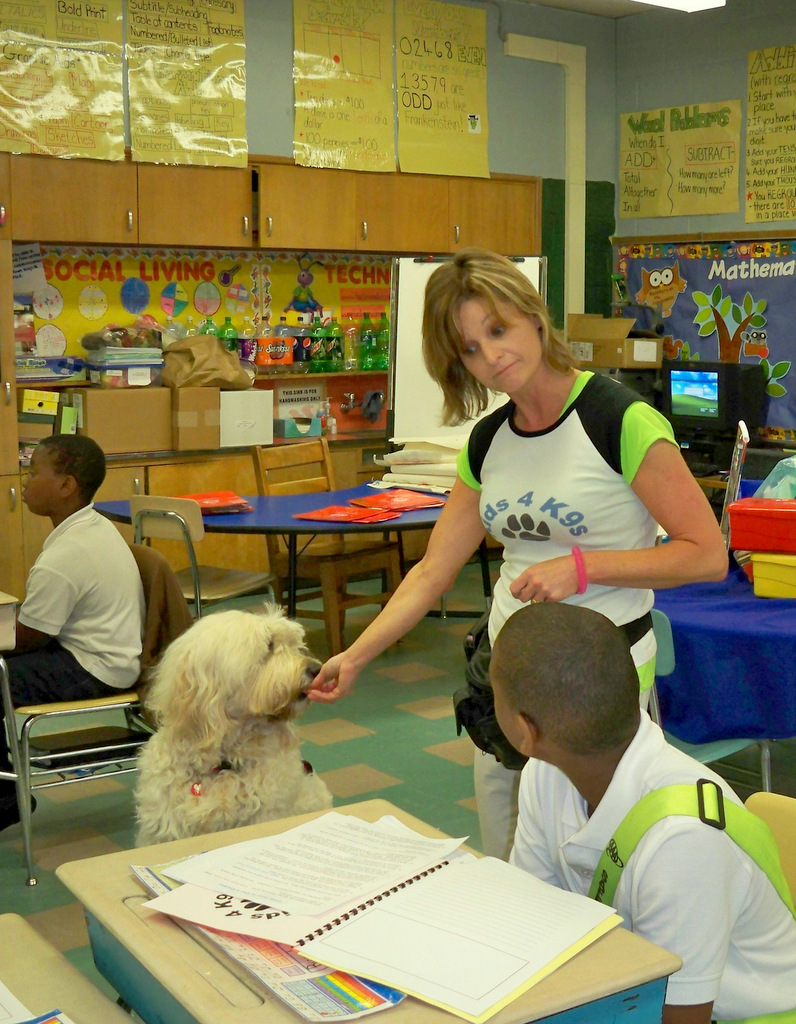 An Open Society fellow, Natalie Keegan is hoping to expand her Kids 4 K9s Humane Education classes. (Photo by Christine Lando)