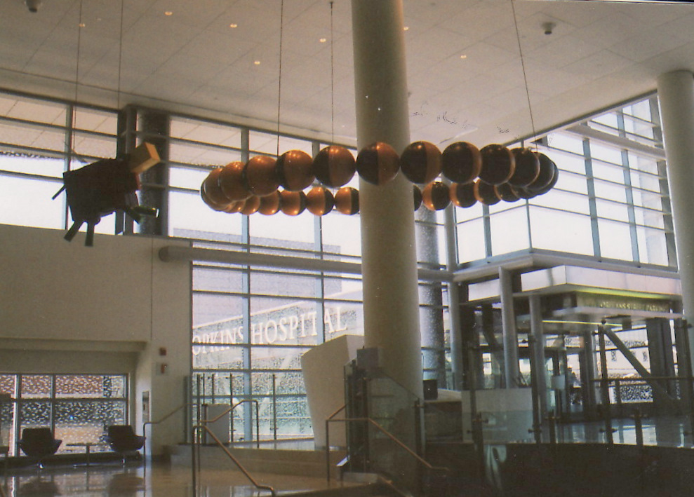 The cow jumps over the moon, one of 70 commissioned art pieces in the new hospital. (Photo by James D. Dilts)