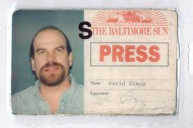 David Simon's press pass
