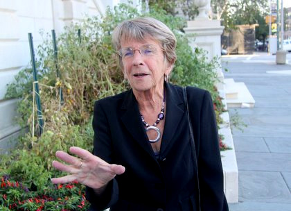 Mary Pat Clarke, seen outside of City Hall in 2010, rallied votes against proposed