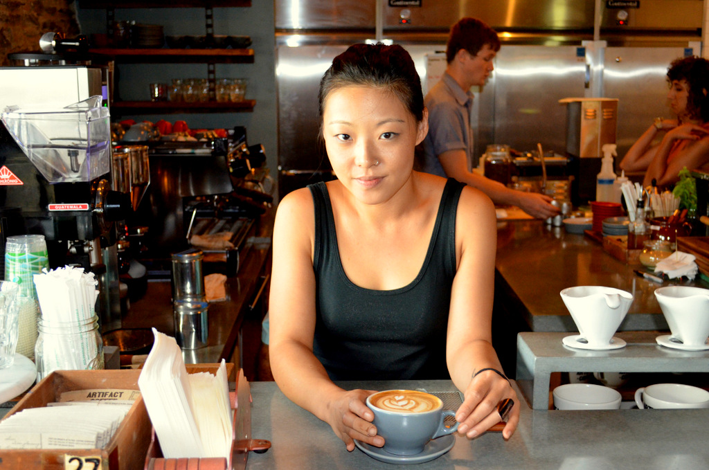 Allie Caran is the woman behind the coffee at Woodberry Kitchen and Artifact. (Photo by Francine Halvorsen)