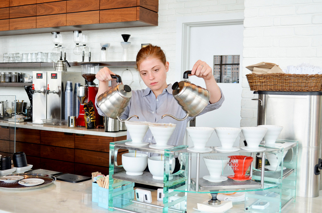 At Lamill, they grind and brew cup-by-cup. (Photo by Francine Halvorsen)