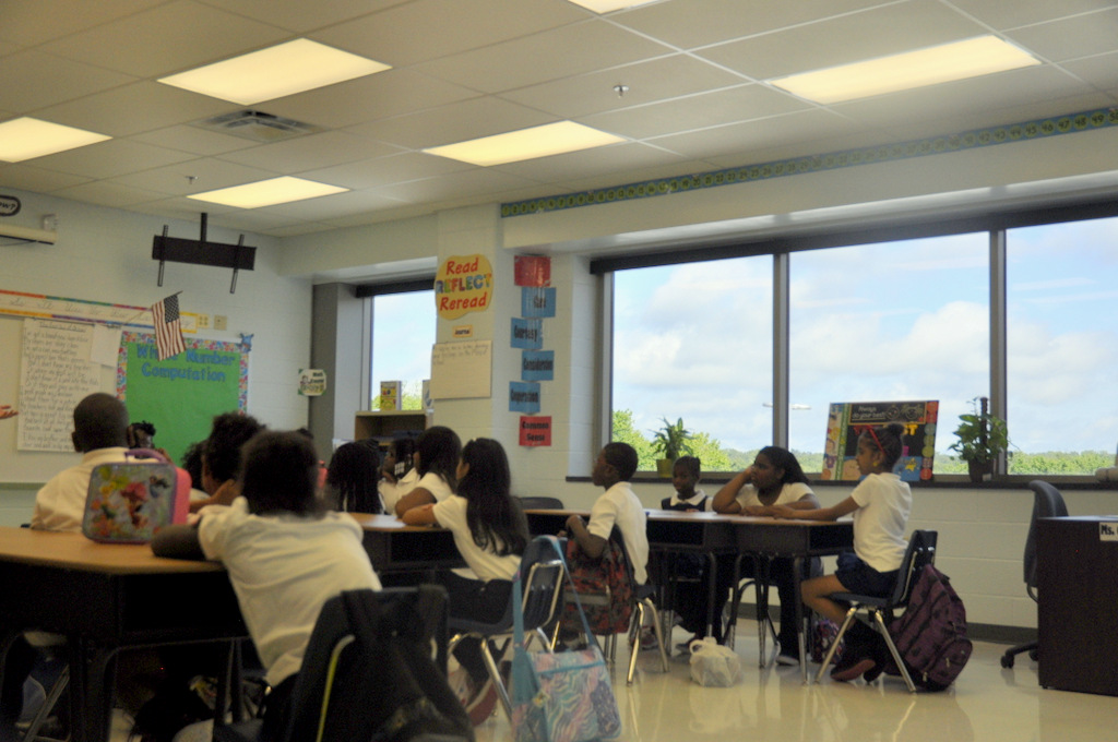 One of the new classrooms this year at Leith Walk Elementary School.