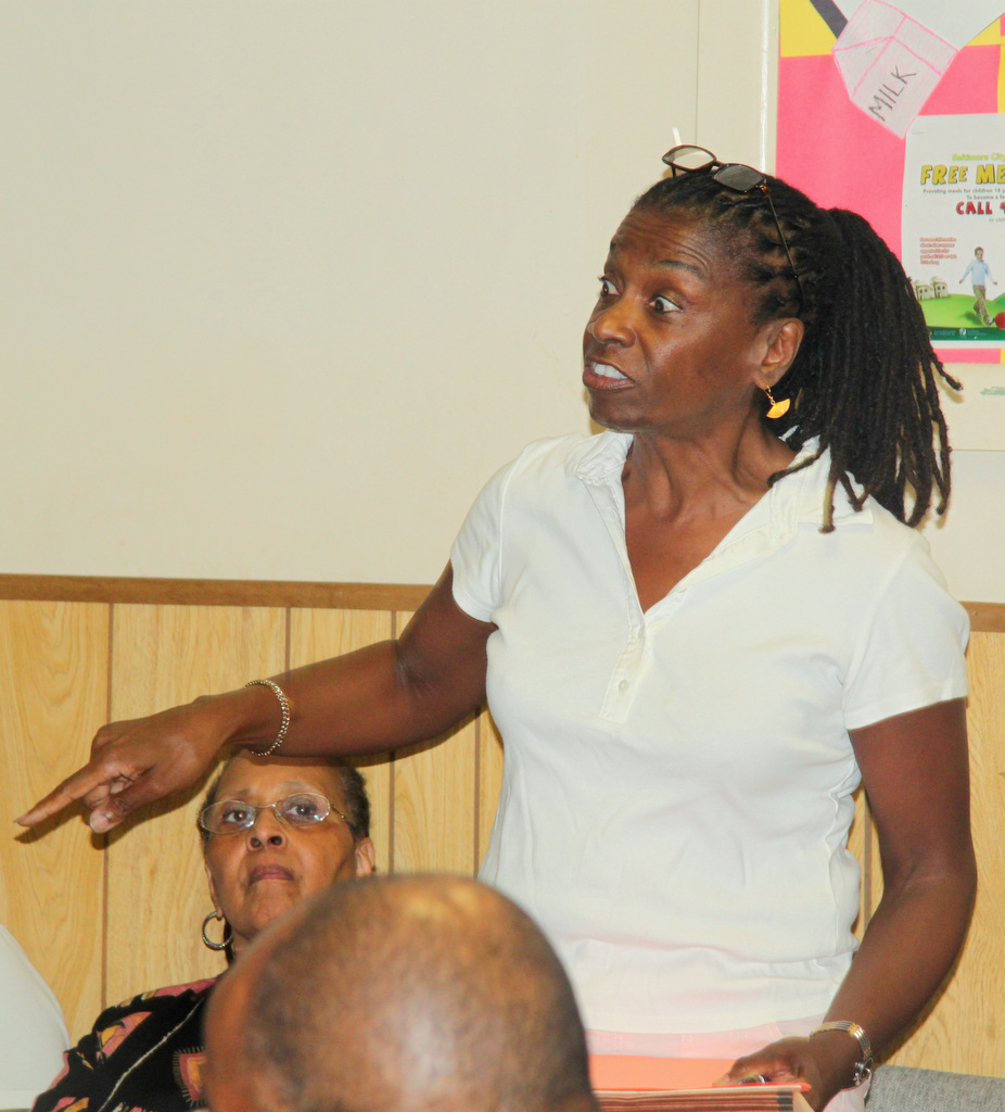 Dr. Brenda Pridgen said several Northeast Baltimore neighborhoods would be affected by the project. (Photo by Fern Shen)