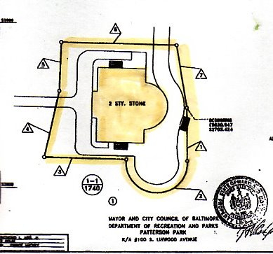 Land easement around the Casino Building that is under the purview of the Maryland Historical Trust.