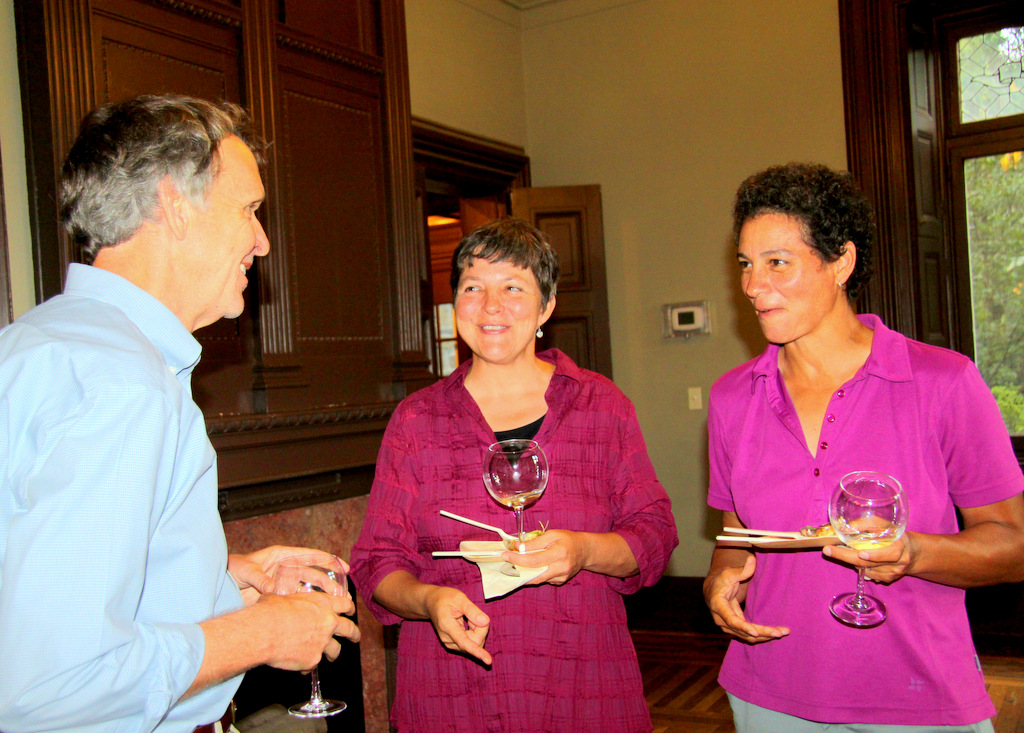 Doug Birch, Marta Hanson and Kellly Burke shared the hard work of tasting.