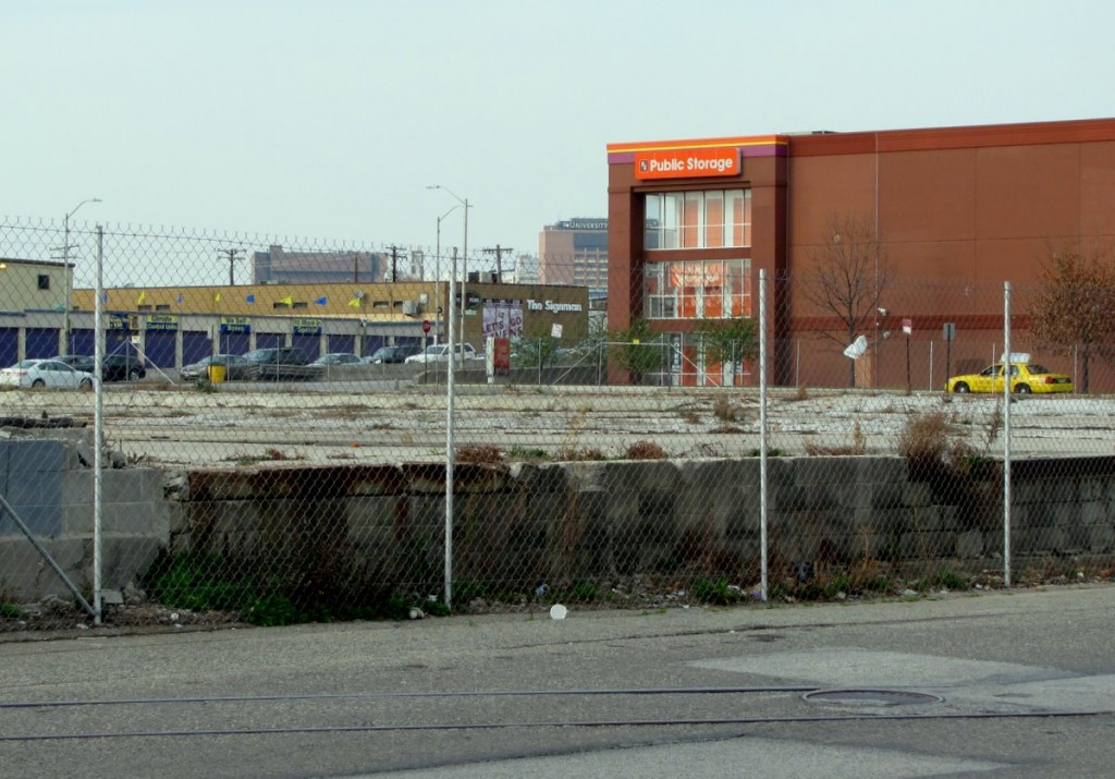 The Maryland Chemical Co. site on Warner Street (Russell Street is in the background) could serve as the casino's parking garage. (Photo by Mark Reutter)