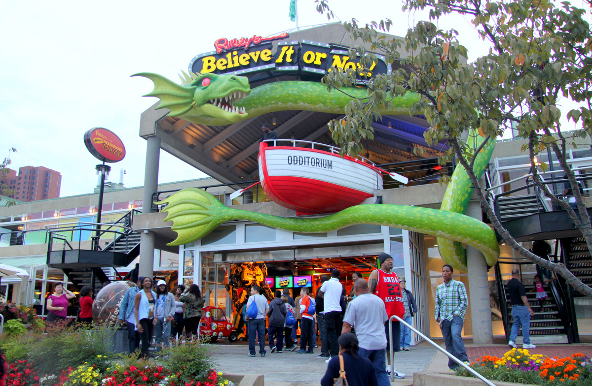 The latest attraction meant to create excitement at Baltimore's Inner Harbor, a Ripley's Believe it or Not. (Photo by Fern Shen)