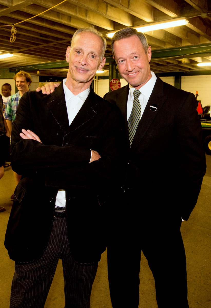 The Pope of Trash and the Governor of Maryland (aka director John Waters and Martin O'Malley) at the 10th anniversary celebration of the Station North Arts District. (Photo by Jay Baker for MDGovpics, Flickr)