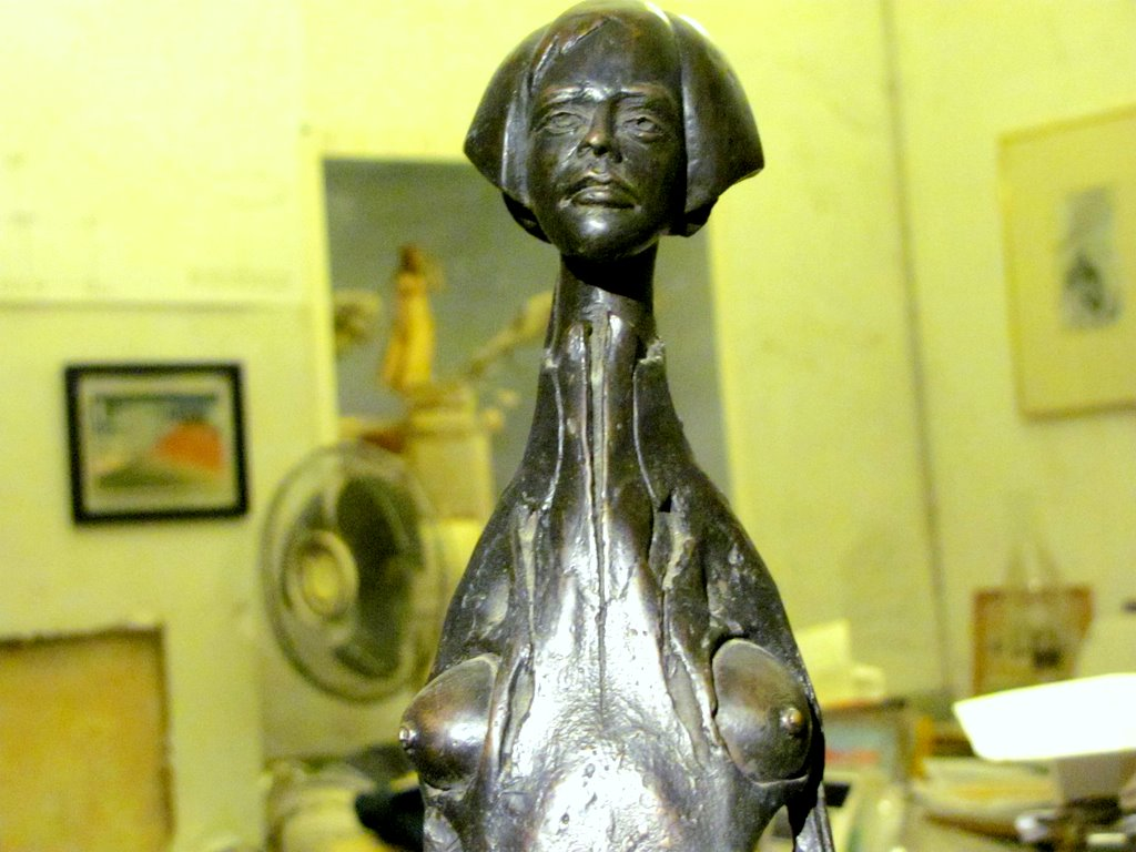 Woman's figure, about 24 inches high, which Kevin modeled and cast in Thailand. (Courtesy of Alan Shapiro)