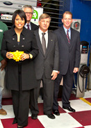 ter Little (far right) with Mayor Rawlings-Blake last year. (Office of the Mayor)