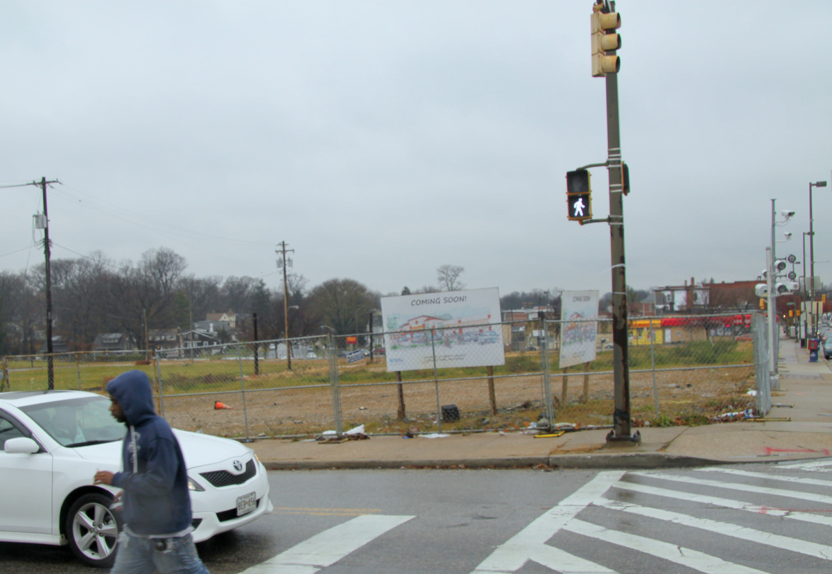 The area where the SuperPride was demolished still looks pretty dreary. (Photo by Fern Shen)