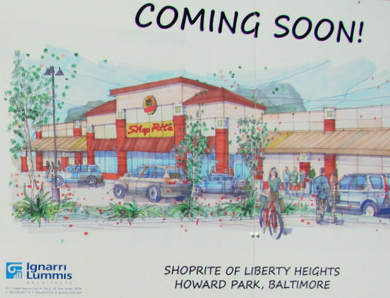 Artist's sketch of Howard Park ShopRite store. (Photo by Mark Reutter)