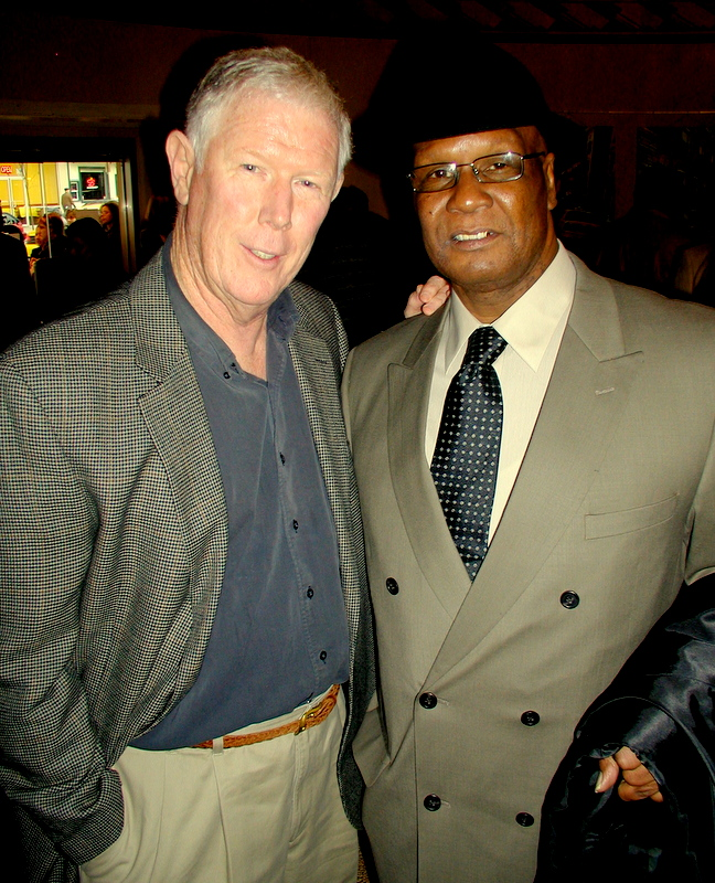 Donnie Andrews and Ed Burns, the Baltimore homicide detective who arrested him and later lobbied for his release. (Photo by Bill Barry)