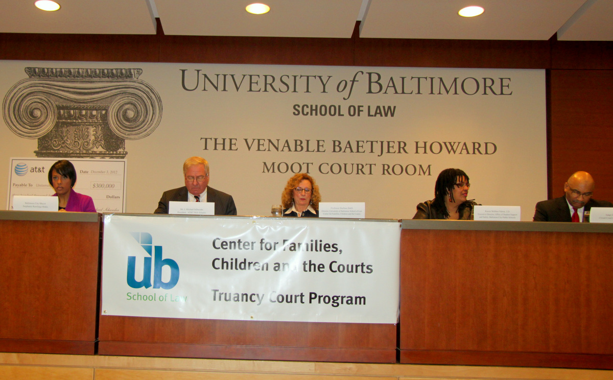 The University of Baltimore School of law announced a $300,000 gift from AT&T to expand their Truancy court Program.