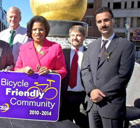 Khalil Zaied with Mayor Rawlings-Blake in 2012 (Photo by Mark Dennis, Mayor's Office)