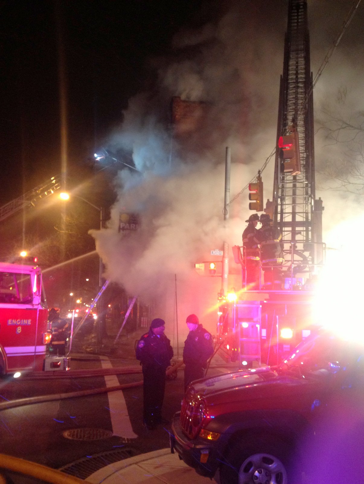 No injuries were reported following this early morning fire in Mt. Vernon. (Photo by John Bloch)