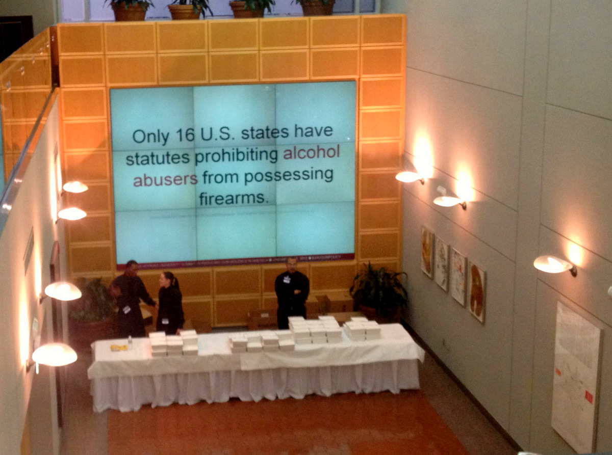 Data on display, at the John Hopkins Gun Policy Summit. (Photo by John Bloch)