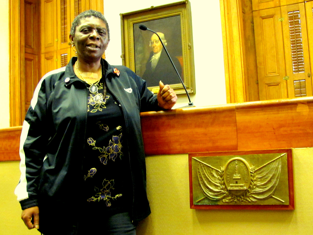 Kim Trueheart at the Hyman Pressman Conference Room where Board of Estimates meeting are held on Wednesdays.