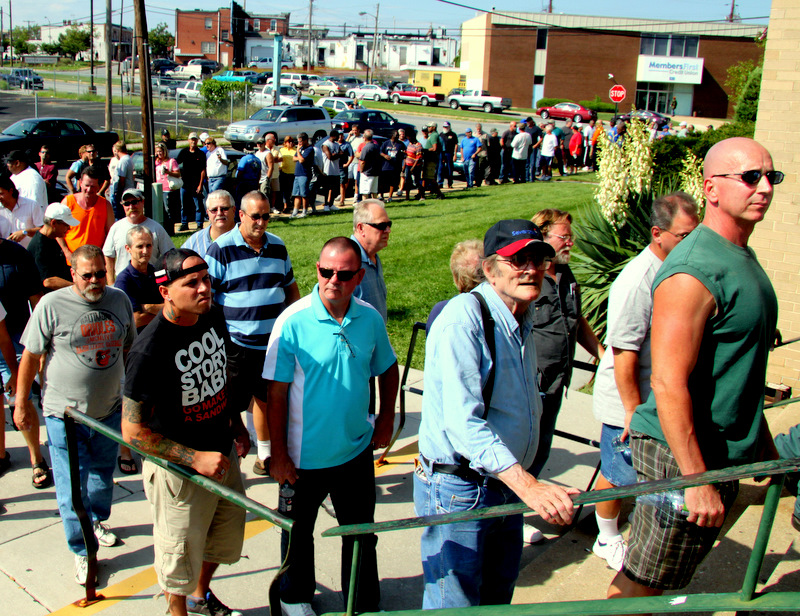 More than 1,000 steelworkers lined up at the Local 9477 Hall on Dundalk Ave. last August to hear that their jobs were gone.