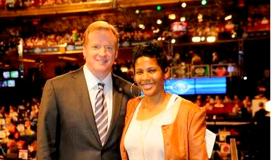 Hubbard and NFL Commissioner Roger Goodell. (Photo: Facebook)