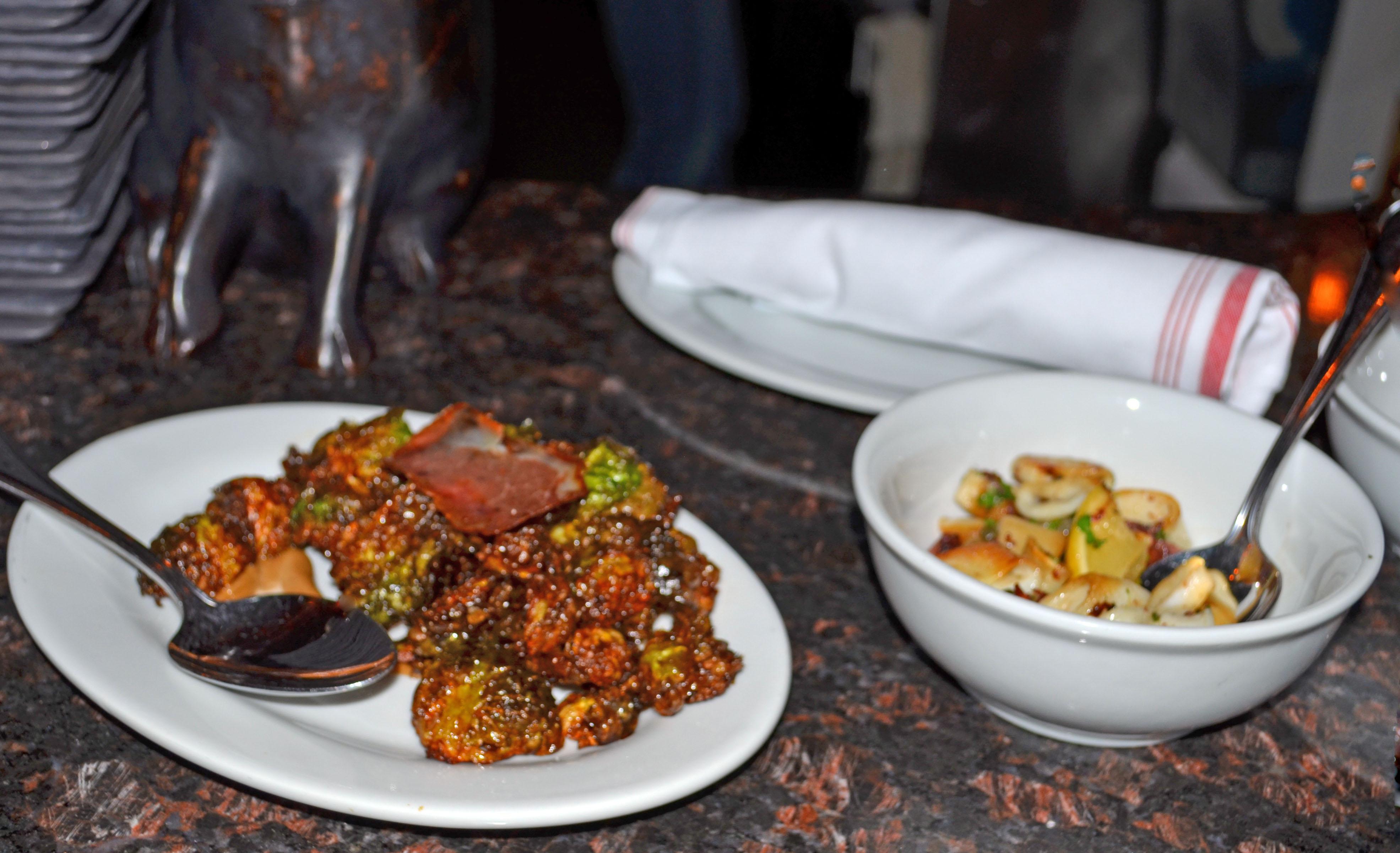 Birroteca's crispy brussels sprouts and tender calamari. (Photo by Francine Halvorsen)
