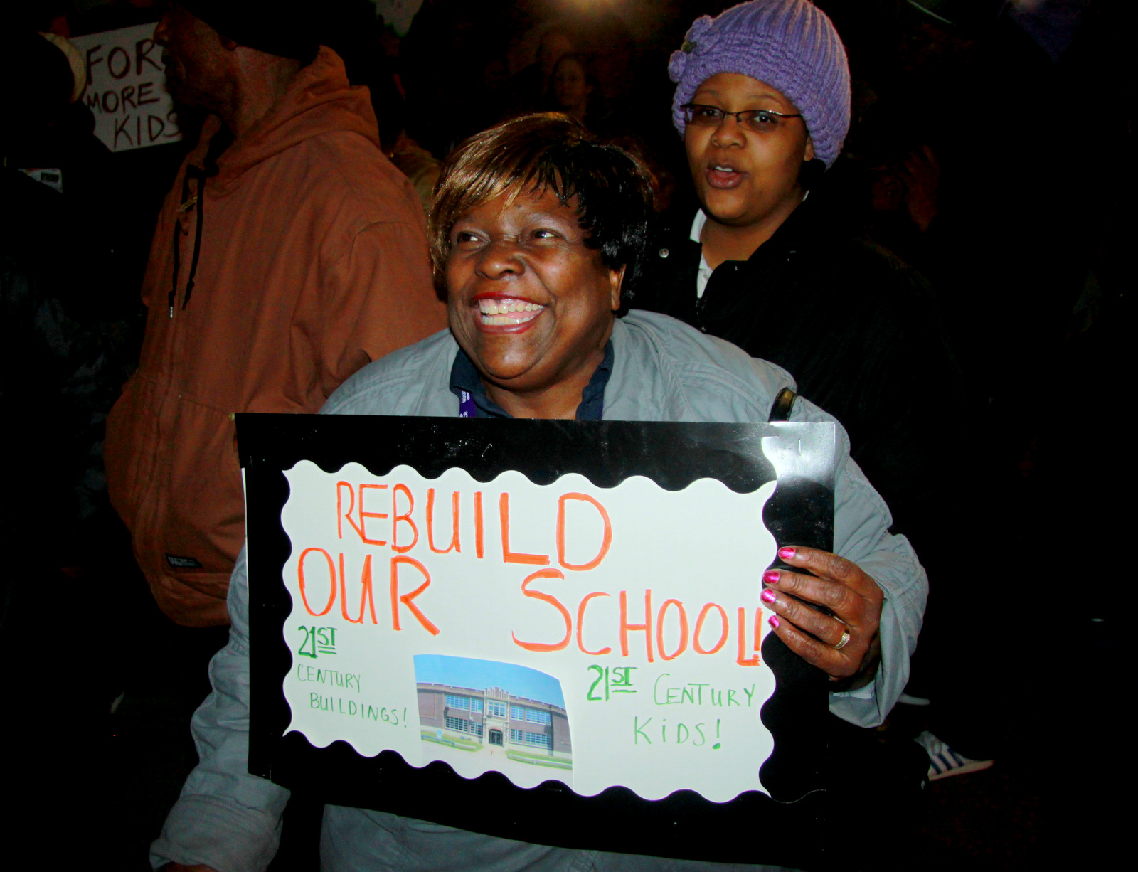 Betty Baze came to support Cherry Hill schools. (Photo by Fern Shen)