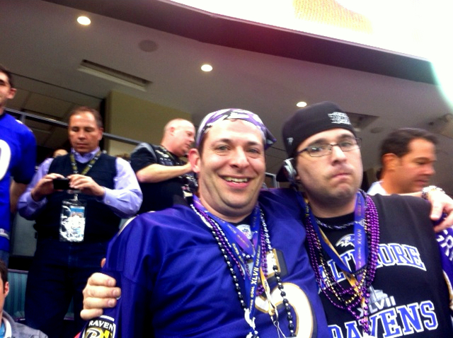 Ravens fans who flocked to New Orleans underwent a flood of emotions as the 49ers surged in the second half. (Photo by Dean Bartoli Smith)