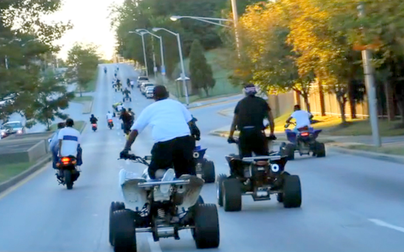 Baltimore dirt bike riders, from the