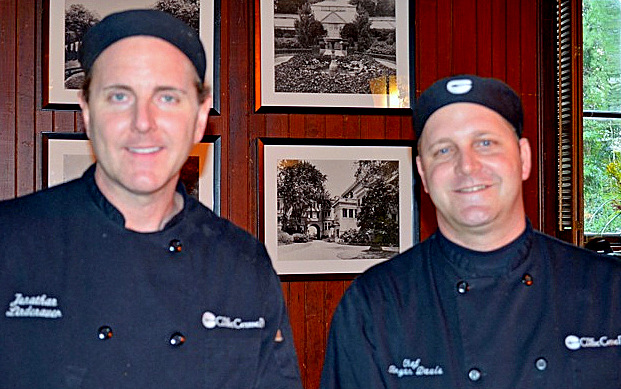 Jon Lindenauer., menu and culinary consultant and Chef Brian Davis. (Photo by Francine Halvorsen)