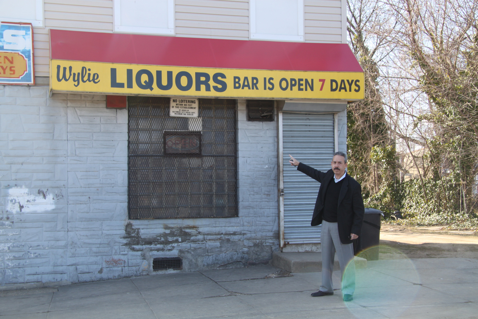 Park Heights Renaisssance CEO Julius Colon, shown here at a store on Wylie Ave,, , supports the crackdown on  liquor outlets in residential areas. (Photo by Fern Shen)