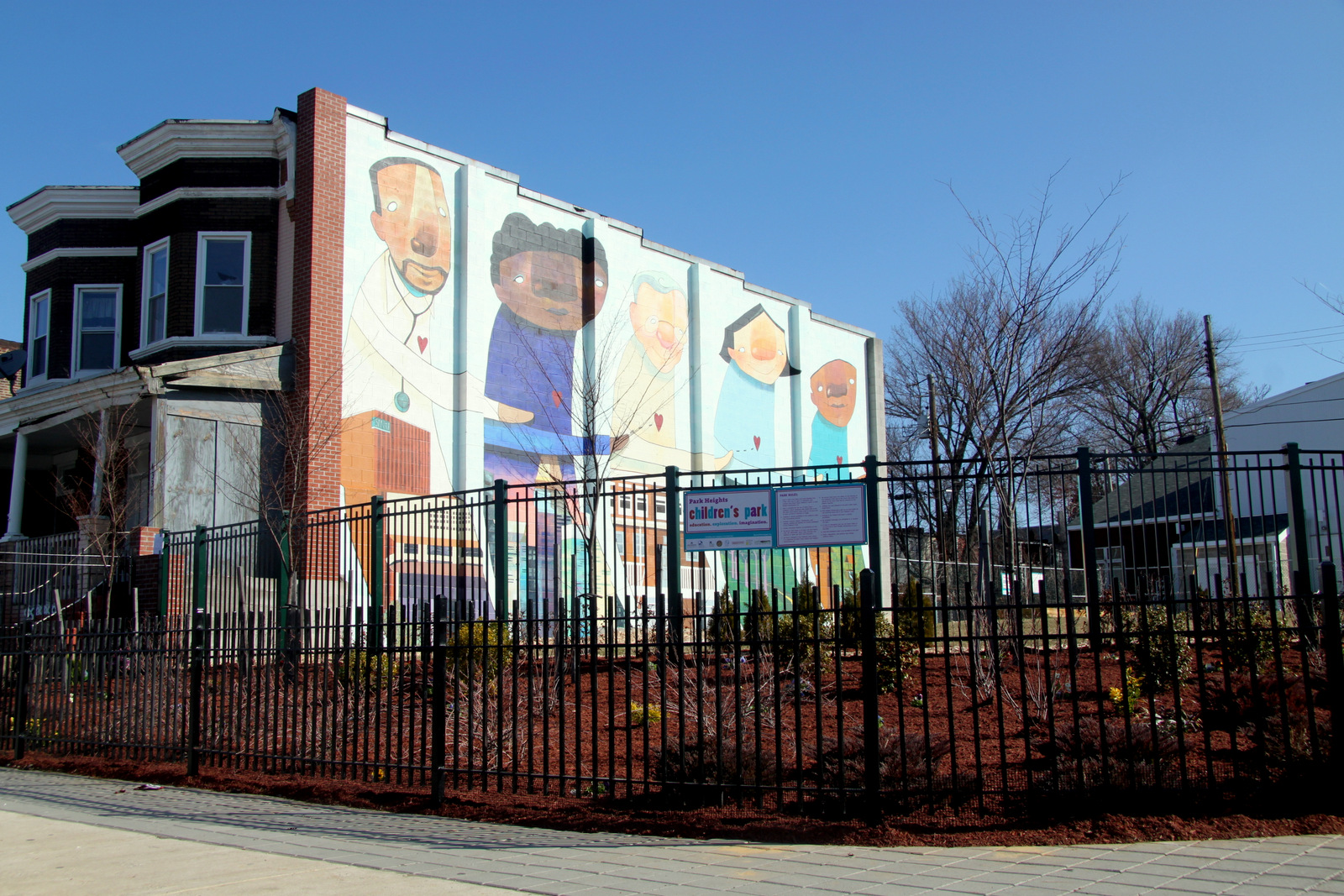 The Park Heights Children's Park, on Park Heights Ave. (Photo by Fern Shen)