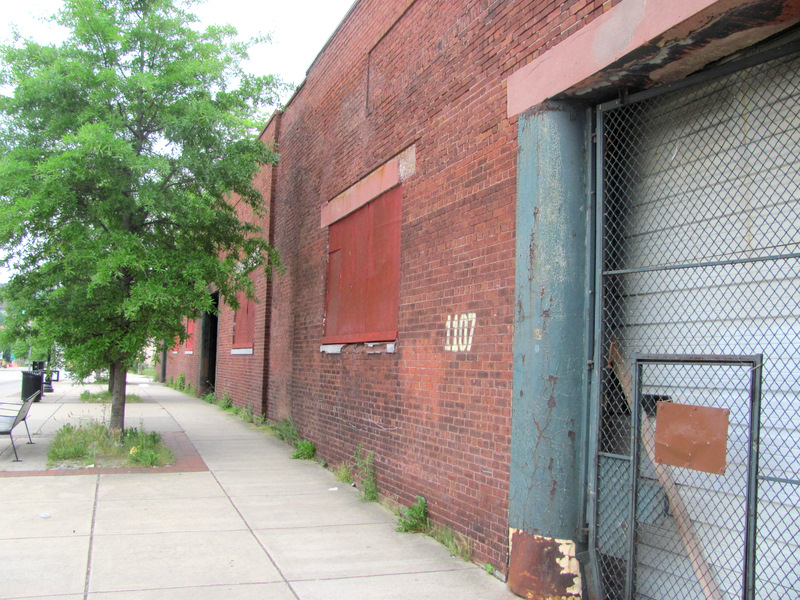 The warehouse on East Fayette St. was purchased by the city for $750,000 in 1999. Today it was sold for no money down. (Photo by Mark Reutter)