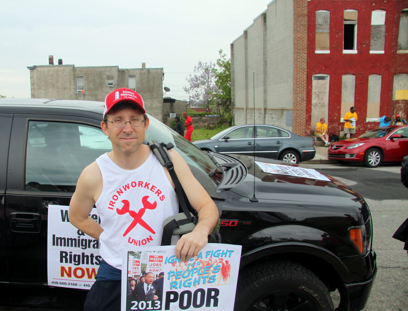 Jayson Bozek, a Baltimore area public defender, said he was walking with his clients in mind. (Photo by Louie Krauss)