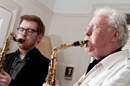Keeper of the Flame: Brad Linde plays with saxophonist great Lee Konitz. (atlasarts.org)